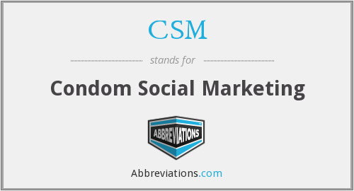 CSM - Condom Social Marketing
