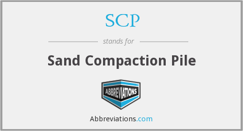 SCP - Sand Compaction Pile
