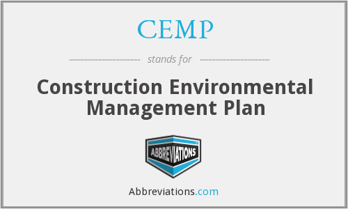 CEMP - Construction Environmental Management Plan
