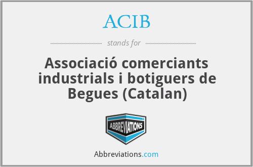 ACIB - Associació comerciants industrials i botiguers de Begues (Catalan)