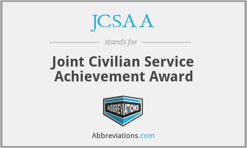 JCSAA - Joint Civilian Service Achievement Award