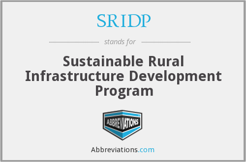 SRIDP - Sustainable Rural Infrastructure Development Program