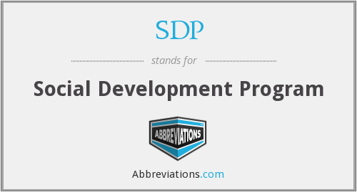 SDP - Social Development Program
