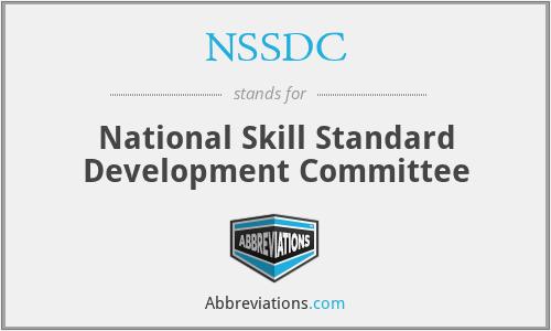 NSSDC - National Skill Standard Development Committee