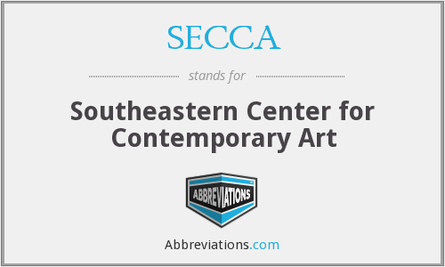 SECCA - Southeastern Center for Contemporary Art