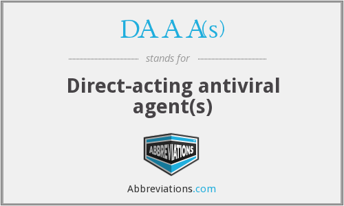 DAAA(s) - Direct-acting antiviral agent(s)