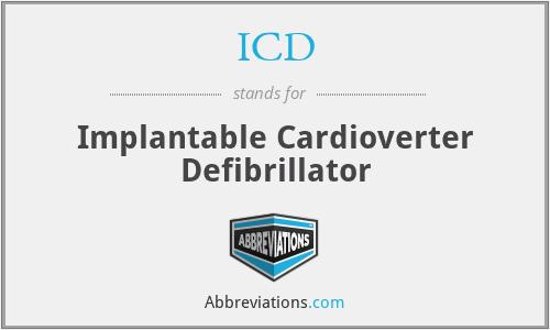 ICD - implantable cardioverter defibrillator