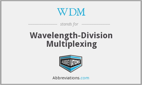 WDM - wavelength-division multiplexing