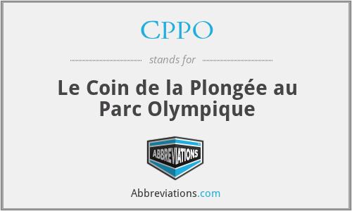 CPPO - Le Coin de la Plongée au Parc Olympique
