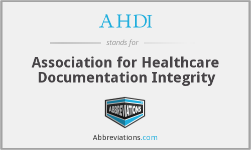 AHDI - Association for Healthcare Documentation Integrity