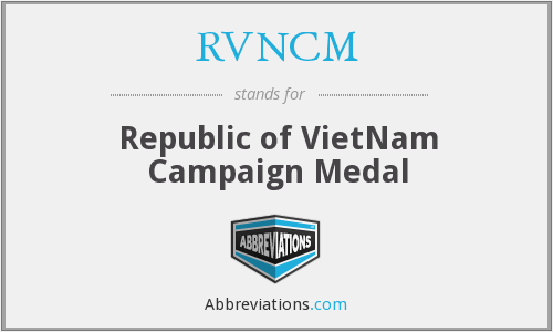 RVNCM - Republic of VietNam Campaign Medal
