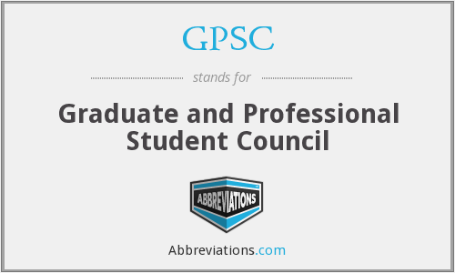 GPSC - Graduate and Professional Student Council