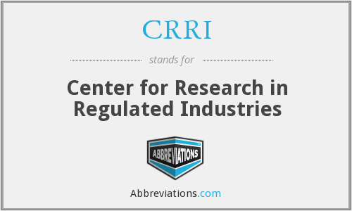 CRRI - Center for Research in Regulated Industries