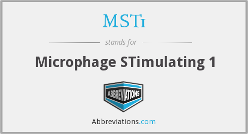 What does MST1 stand for?