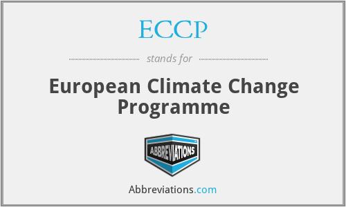 ECCP - European Climate Change Programme