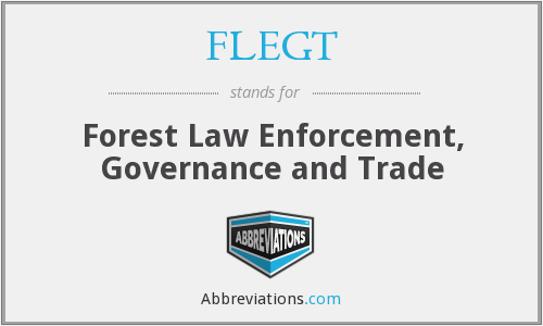 What does FLEGT stand for?