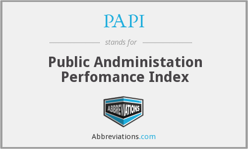 PAPI - Public Andministation Perfomance Index