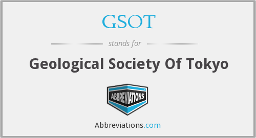 GSOT - Geological Society Of Tokyo