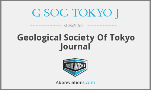 What does G SOC TOKYO J stand for?