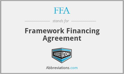 FFA - framework financing agreement