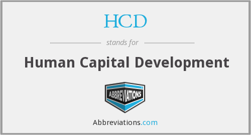 HCD - Human Capital Development