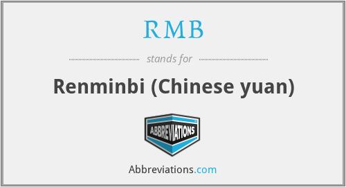 RMB - Renminbi (Chinese yuan)
