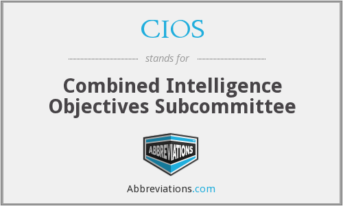 CIOS - Combined Intelligence Objectives Subcommittee