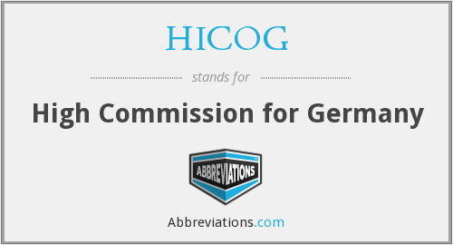 HICOG - High Commission for Germany