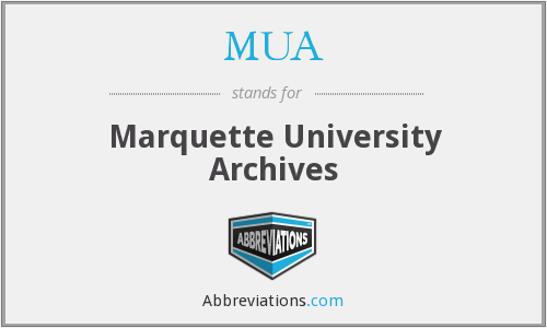 MUA - Marquette University Archives