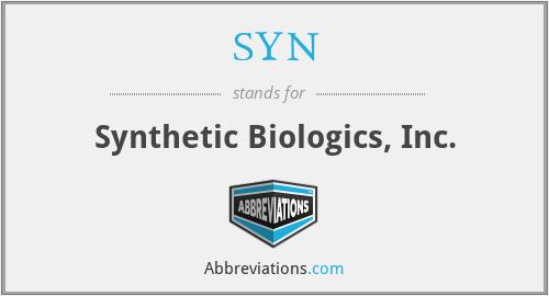 SYN - Synthetic Biologics, Inc.