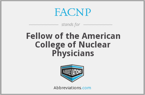 What does FACNP stand for?
