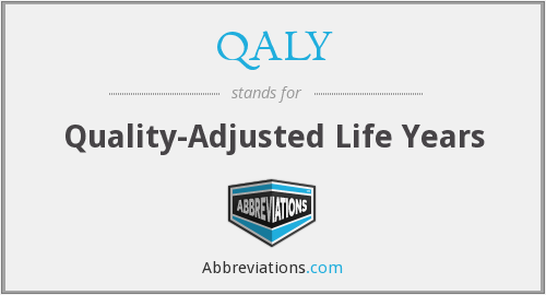 QALY - quality-adjusted life years