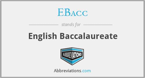 EBacc - English Baccalaureate