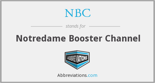 NBC - Notredame Booster Channel