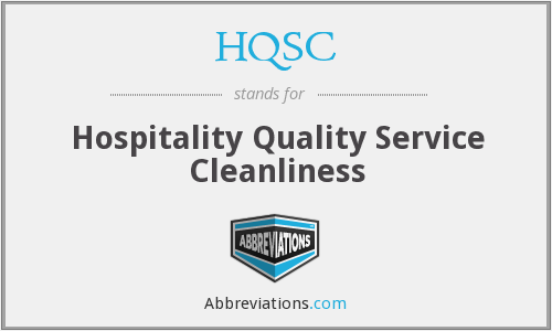 HQSC - Hospitality Quality Service Cleanliness
