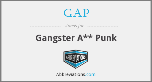 What does gangster stand for?