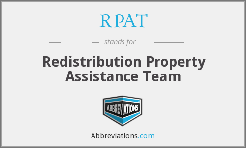 RPAT - Redistribution Property Assistance Team