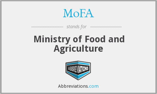 MoFA - Ministry of Food and Agriculture