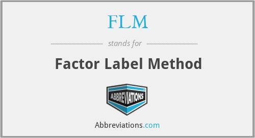 FLM - Factor Label Method