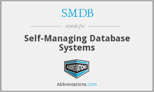 SMDB - Self-Managing Database Systems