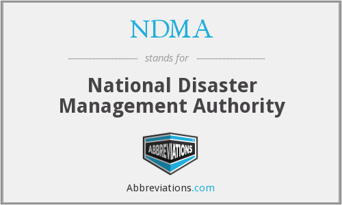 NDMA - National Desaster Management Authority