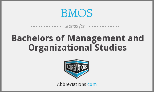 BMOS - Bachelors of Management and Organizational Studies