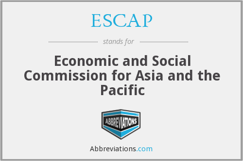 ESCAP - Economic and Social Commission for Asia and the Pacific