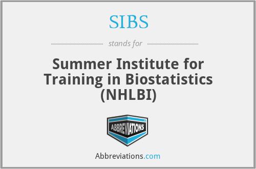 SIBS - Summer Institute for Training in Biostatistics (NHLBI)