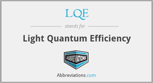 LQE - Light Quantum Efficiency