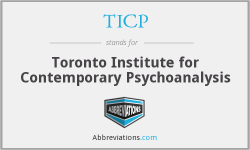 TICP - Toronto Institute for Contemporary Psychoanalysis