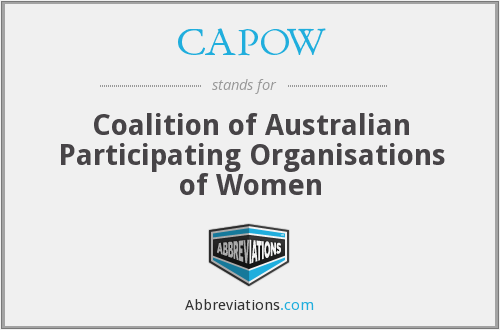 CAPOW - Coalition of Australian Participating Organisations of Women
