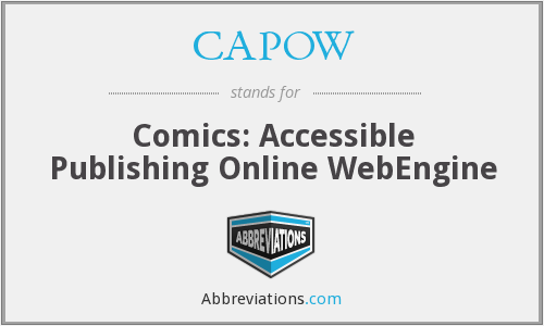 CAPOW - Comics: Accessible Publishing Online WebEngine