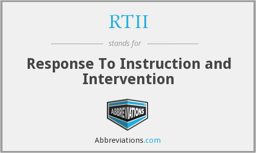 What does RTII stand for?
