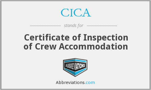 CICA - Certificate of Inspection of Crew Accommodation